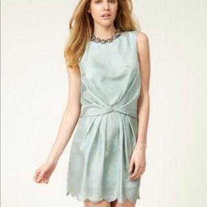 Ali Ro Pin Tuck Mint Green Dress